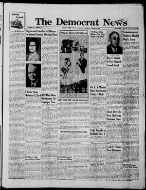 Primary view of object titled 'The Democrat News (Sapulpa, Okla.), Vol. 52, No. 52, Ed. 1 Thursday, October 18, 1962'.