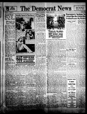 Primary view of object titled 'The Democrat News (Sapulpa, Okla.), Vol. 34, No. 14, Ed. 1 Thursday, February 8, 1945'.