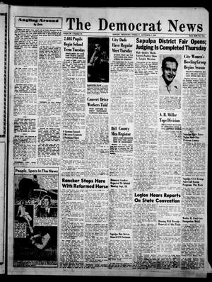 Primary view of object titled 'The Democrat News (Sapulpa, Okla.), Vol. 38, No. 43, Ed. 1 Thursday, September 9, 1948'.