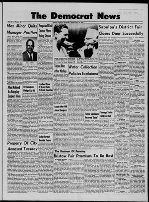Primary view of object titled 'The Democrat News (Sapulpa, Okla.), Vol. 57, No. 46, Ed. 1 Tuesday, September 13, 1966'.