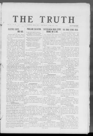Primary view of object titled 'The Truth (Capitol Hill, Okla.), Vol. 1, No. 8, Ed. 1 Saturday, June 19, 1909'.