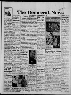 Primary view of object titled 'The Democrat News (Sapulpa, Okla.), Vol. 54, No. 39, Ed. 1 Thursday, July 18, 1963'.
