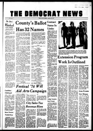Primary view of The Democrat News (Sapulpa, Okla.), Vol. 65, No. 37, Ed. 1 Tuesday, July 16, 1974