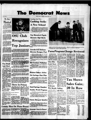 Primary view of The Democrat News (Sapulpa, Okla.), Vol. 62, No. 19, Ed. 1 Tuesday, March 9, 1971