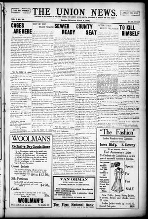 Primary view of object titled 'The Union News. (Sapulpa, Okla.), Vol. 1, No. 39, Ed. 1 Friday, March 6, 1908'.