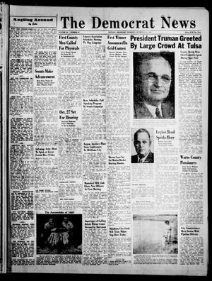 Primary view of object titled 'The Democrat News (Sapulpa, Okla.), Vol. 38, No. 46, Ed. 1 Thursday, September 30, 1948'.