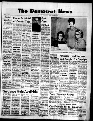 Primary view of The Democrat News (Sapulpa, Okla.), Vol. 61, No. 1, Ed. 1 Tuesday, November 4, 1969