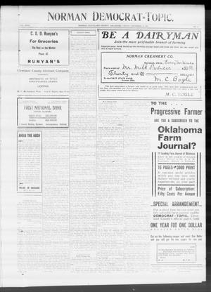 Primary view of object titled 'Norman Democrat--Topic. (Norman, Okla.), Vol. 18, No. 21, Ed. 2 Friday, December 10, 1909'.