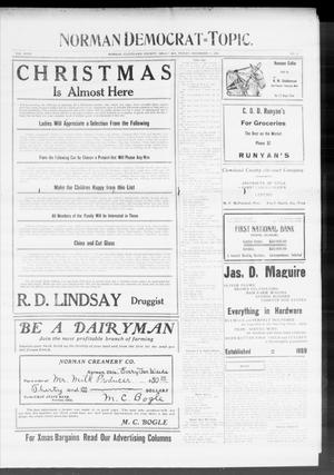 Primary view of object titled 'Norman Democrat--Topic. (Norman, Okla.), Vol. 18, No. 22, Ed. 2 Friday, December 17, 1909'.