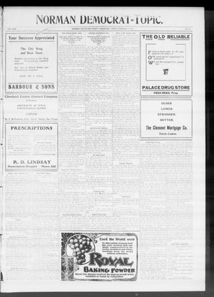 Primary view of object titled 'Norman Democrat--Topic. (Norman, Okla.), Vol. 17, No. 30, Ed. 1 Friday, February 11, 1910'.