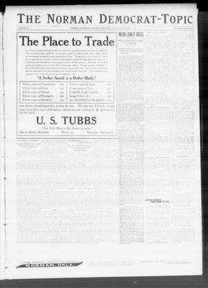 Primary view of object titled 'The Norman Democrat-Topic (Norman, Okla.), Vol. 22, No. 14, Ed. 2 Friday, October 21, 1910'.