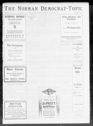 Primary view of object titled 'The Norman Democrat-Topic (Norman, Okla.), Vol. 22, No. 20, Ed. 1 Friday, December 2, 1910'.