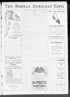 Primary view of object titled 'The Norman Democrat-Topic (Norman, Okla.), Vol. 22, No. 22, Ed. 1 Friday, December 16, 1910'.
