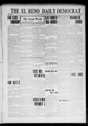 Primary view of object titled 'The El Reno Daily Democrat (El Reno, Okla.), Vol. 32, No. 21, Ed. 1 Wednesday, September 20, 1922'.