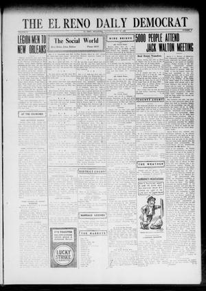 Primary view of object titled 'The El Reno Daily Democrat (El Reno, Okla.), Vol. 32, No. 41, Ed. 1 Saturday, October 14, 1922'.