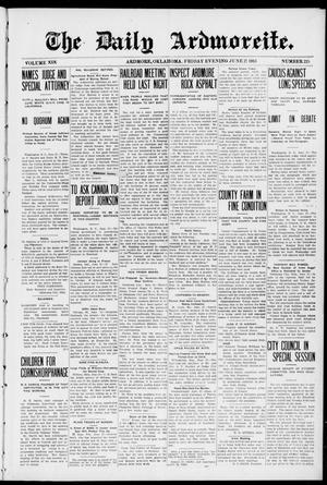 Primary view of object titled 'The Daily Ardmoreite. (Ardmore, Okla.), Vol. 19, No. 225, Ed. 1 Friday, June 27, 1913'.