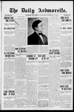 Primary view of The Daily Ardmoreite. (Ardmore, Okla.), Vol. 19, No. 229, Ed. 1 Wednesday, July 2, 1913