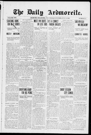 Primary view of The Daily Ardmoreite. (Ardmore, Okla.), Vol. 19, No. 247, Ed. 1 Wednesday, July 23, 1913
