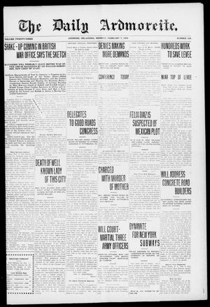 Primary view of object titled 'The Daily Ardmoreite. (Ardmore, Okla.), Vol. 23, No. 105, Ed. 1 Monday, February 7, 1916'.