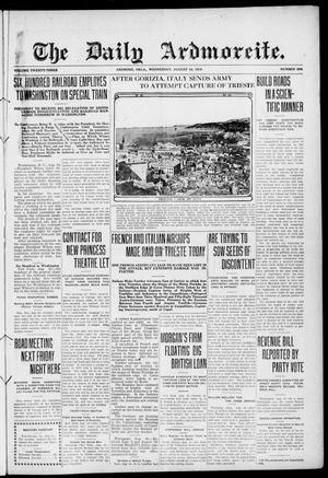 Primary view of The Daily Ardmoreite. (Ardmore, Okla.), Vol. 23, No. 269, Ed. 1 Wednesday, August 16, 1916