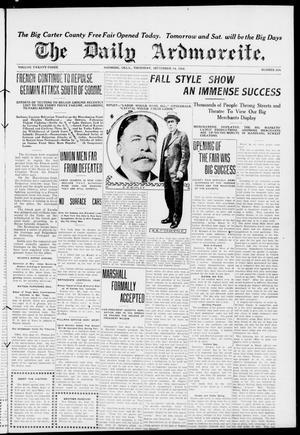 Primary view of The Daily Ardmoreite. (Ardmore, Okla.), Vol. 23, No. 294, Ed. 1 Thursday, September 14, 1916