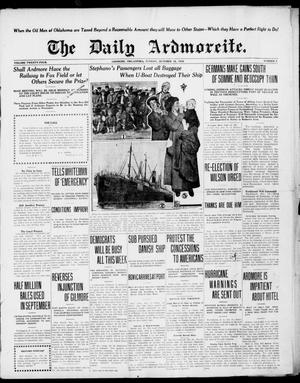 Primary view of object titled 'The Daily Ardmoreite. (Ardmore, Okla.), Vol. 24, No. 7, Ed. 1 Sunday, October 15, 1916'.