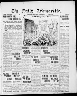 Primary view of object titled 'The Daily Ardmoreite. (Ardmore, Okla.), Vol. 24, No. 19, Ed. 1 Sunday, October 29, 1916'.