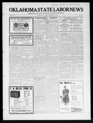 Primary view of object titled 'Oklahoma State Labor News (Oklahoma City, Okla.), Vol. 1, No. 29, Ed. 1 Friday, November 16, 1906'.