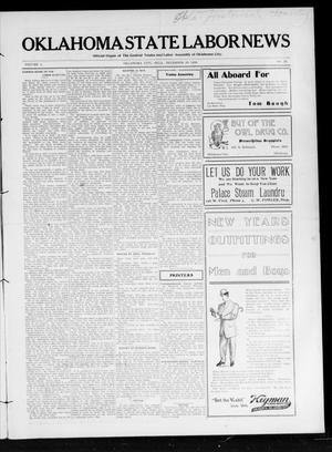 Primary view of object titled 'Oklahoma State Labor News (Oklahoma City, Okla.), Vol. 1, No. 35, Ed. 1 Friday, December 28, 1906'.