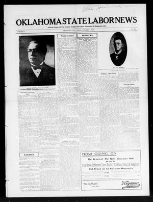 Primary view of object titled 'Oklahoma State Labor News (Oklahoma City, Okla.), Vol. 1, No. 36, Ed. 1 Friday, January 4, 1907'.