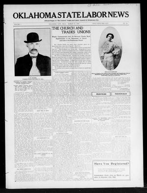 Primary view of object titled 'Oklahoma State Labor News (Oklahoma City, Okla.), Vol. 1, No. 46, Ed. 1 Friday, March 15, 1907'.