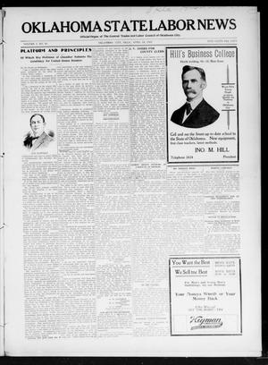 Primary view of object titled 'Oklahoma State Labor News (Oklahoma City, Okla.), Vol. 1, No. 51, Ed. 1 Friday, April 19, 1907'.