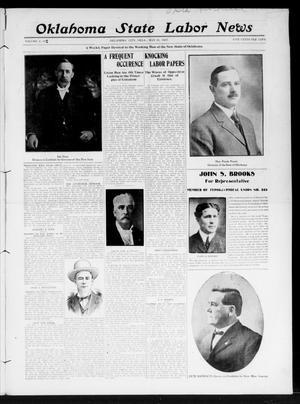 Primary view of object titled 'Oklahoma State Labor News (Oklahoma City, Okla.), Vol. 2, No. 5, Ed. 1 Friday, May 31, 1907'.
