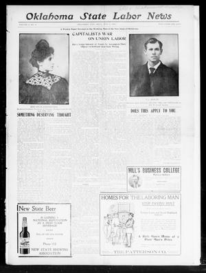 Primary view of object titled 'Oklahoma State Labor News (Oklahoma City, Okla.), Vol. 2, No. 8, Ed. 1 Friday, July 5, 1907'.
