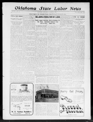 Primary view of object titled 'Oklahoma State Labor News (Oklahoma City, Okla.), Vol. 2, No. 14, Ed. 1 Friday, August 16, 1907'.
