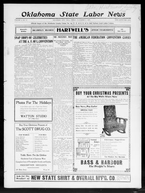 Primary view of object titled 'Oklahoma State Labor News (Oklahoma City, Okla.), Vol. 2, No. 30, Ed. 1 Friday, December 6, 1907'.