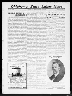 Primary view of object titled 'Oklahoma State Labor News (Oklahoma City, Okla.), Vol. 2, No. 39, Ed. 1 Friday, January 31, 1908'.