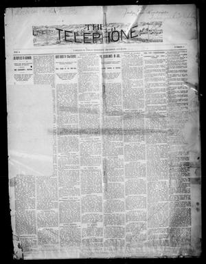 Primary view of object titled 'The Telephone. (Tahlequah, Indian Terr.), Vol. 9, No. 3, Ed. 1 Thursday, August 2, 1894'.