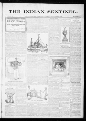 Primary view of object titled 'The Indian Sentinel. (Tahlequah, Indian Terr.), Vol. 10, No. 13, Ed. 1 Saturday, September 23, 1899'.