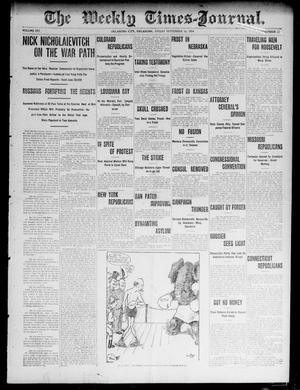 Primary view of object titled 'The Weekly Times-Journal. (Oklahoma City, Okla.), Vol. 16, No. 21, Ed. 1 Friday, September 16, 1904'.