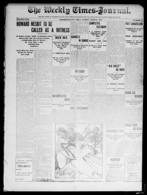 Primary view of object titled 'The Weekly Times-Journal. (Oklahoma City, Okla.), Vol. 17, No. 44, Ed. 1 Friday, March 1, 1907'.