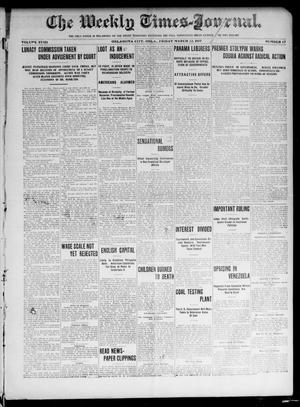 Primary view of object titled 'The Weekly Times-Journal. (Oklahoma City, Okla.), Vol. 17, No. 47, Ed. 1 Friday, March 22, 1907'.