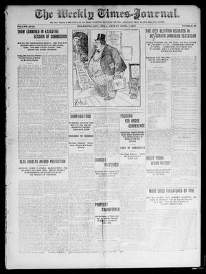 Primary view of object titled 'The Weekly Times-Journal. (Oklahoma City, Okla.), Vol. 17, No. 49, Ed. 1 Friday, April 5, 1907'.