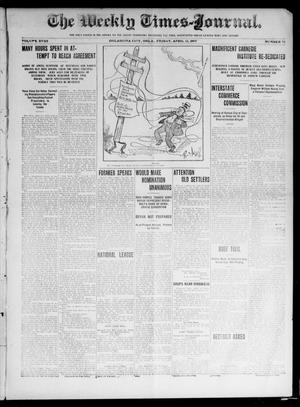Primary view of object titled 'The Weekly Times-Journal. (Oklahoma City, Okla.), Vol. 17, No. 50, Ed. 1 Friday, April 12, 1907'.
