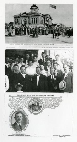 Primary view of object titled 'Photocopies of Postcards from the inaguration of Frank Frantz'.