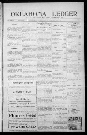 Primary view of object titled 'Oklahoma Ledger (Sterling, Okla.), Vol. 7, No. 41, Ed. 1 Thursday, May 9, 1912'.