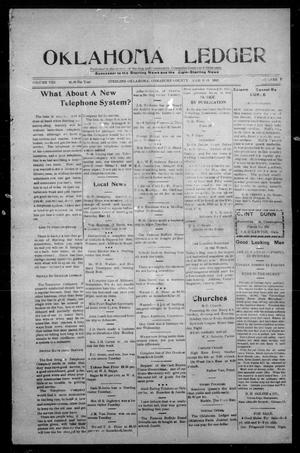 Primary view of Oklahoma Ledger (Sterling, Okla.), Vol. 8, No. 7, Ed. 1 Thursday, March 13, 1913