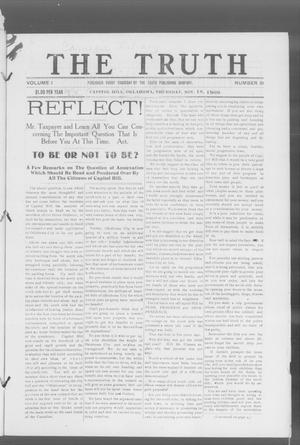 Primary view of object titled 'The Truth (Capitol Hill, Okla.), Vol. 1, No. 31, Ed. 1 Thursday, November 18, 1909'.