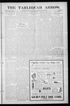 Primary view of The Tahlequah Arrow. (Tahlequah, Indian Terr.), Vol. 14, No. 41, Ed. 1 Saturday, June 22, 1901