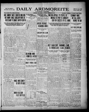 Primary view of Daily Ardmoreite (Ardmore, Okla.), Vol. 25, No. 21, Ed. 1 Sunday, October 21, 1917